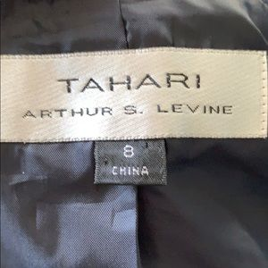 Tahari Jackets & Coats - TAHARI size 8 navy jacket with white stitching